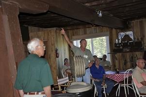 Richard Nye giving history of Kemps Mill